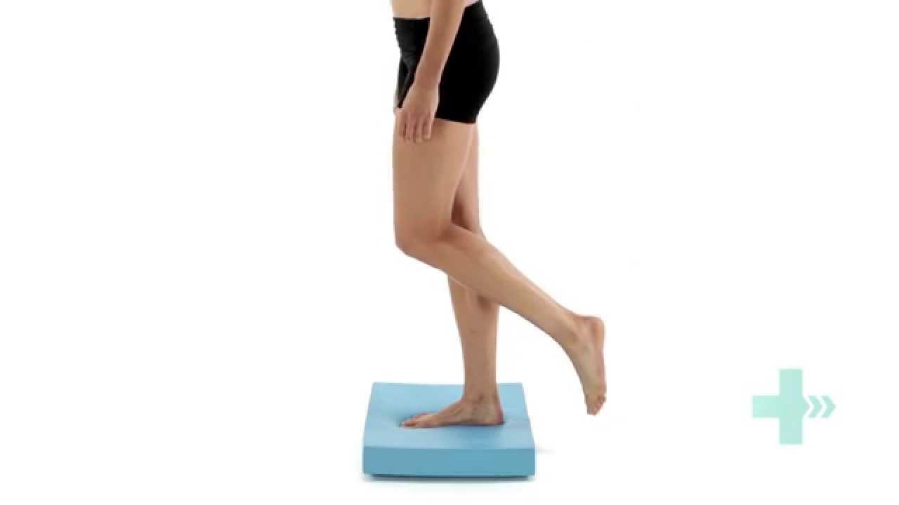 Ankle Sprain Single Leg Balance Exercise On Balance Pad Eyes