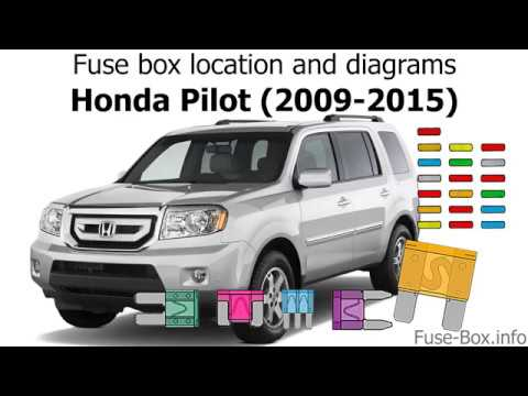 fuse box location and diagrams honda pilot 2009 2015. Black Bedroom Furniture Sets. Home Design Ideas