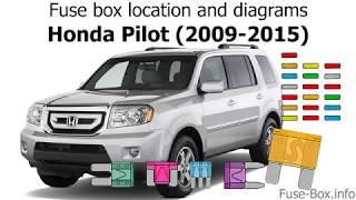 [DIAGRAM_1JK]  Fuse box location and diagrams: Honda Pilot (2009-2015) - YouTube | 2006 Honda Pilot Fuse Box Location |  | YouTube