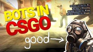 BOTS IN CSGO (ACE, insane flicks, teamkill, suicides)
