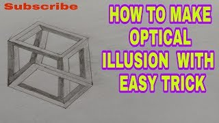 HOW TO MAKE OPTICAL ILLUSION DRAWING.WITH EASY TRICKS