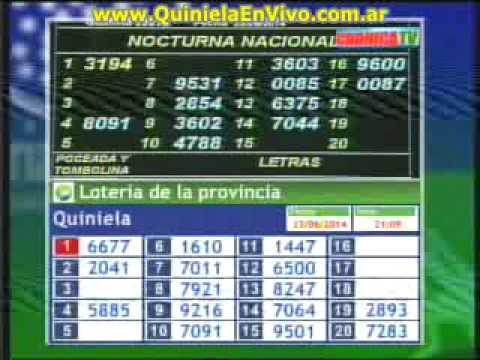 Loteria nacional y provincia