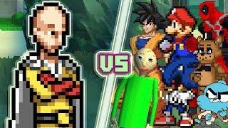 LEVEL UP: Saitama until he loses. (Saitama vs Sonic.EXE, Goku, Mario, Baldi, & More) Animation