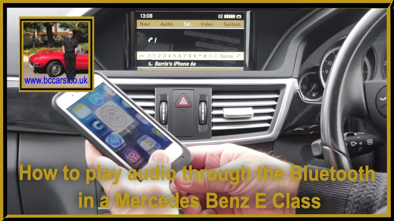 How to play audio through the bluetooth in a mercedes benz for Bluetooth adapter for mercedes benz e350