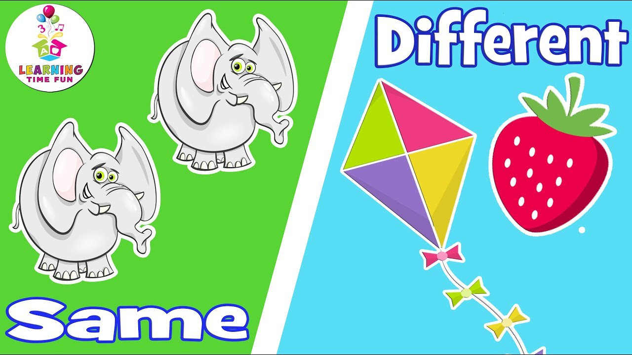 Same and Different for Kids | Compare and Contrast | Learning Time Fun | Comparison for Kids