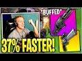 Tfue SHOWS the *OP* buffed Minigun & Scoped Revolver COMBO!
