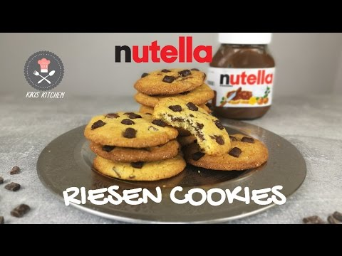 nutella cookies riesen cookies chocolate chip cookie. Black Bedroom Furniture Sets. Home Design Ideas
