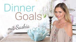 DIY: Dinner Goals mit Saskia von Saskiasbeautyblog I Pure Velvet Esszimmer Luxus-Interior Umstyling