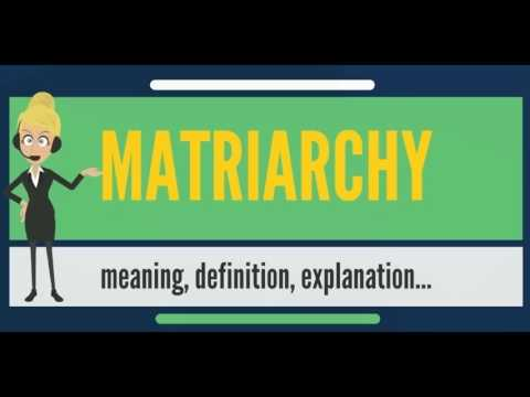 What is MATRIARCHY? What does MATRIARCHY mean? MATRIARCHY meaning,  definition & explanation