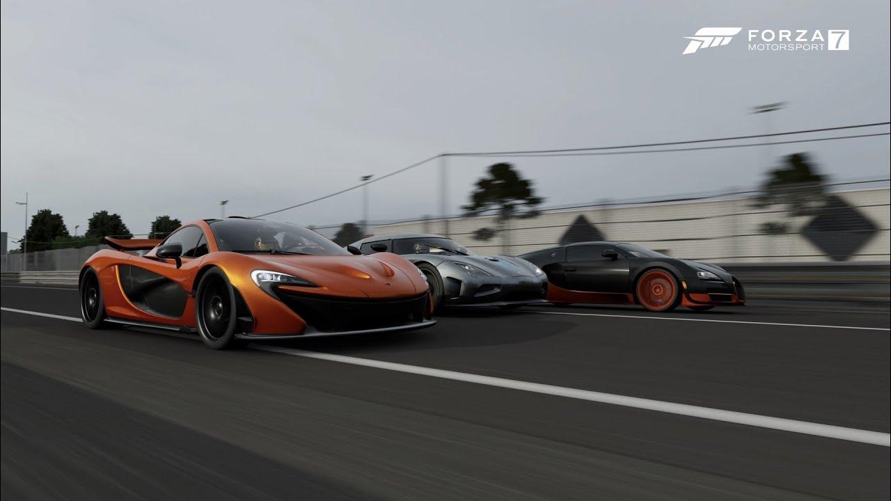 Bugatti Veyron SS vs Koenigsegg Agera vs McLaren P1 - YouTube