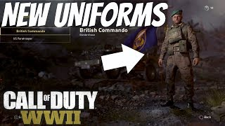 Call Of Duty: WW2 ALL NEW UNIFORMS - Character Customization