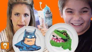 Pancake art challenge and all pancakes we made so far HobbyFamilyTV