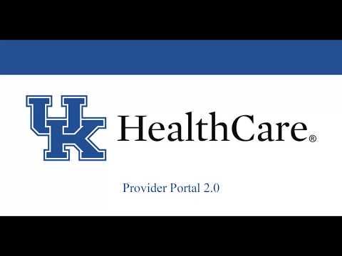 Provider Portal 2.0 Web-based Training