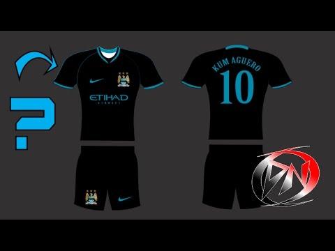 05650605cf Como fazer modelo uniforme do Manchester City (padrão Manchester City preta)