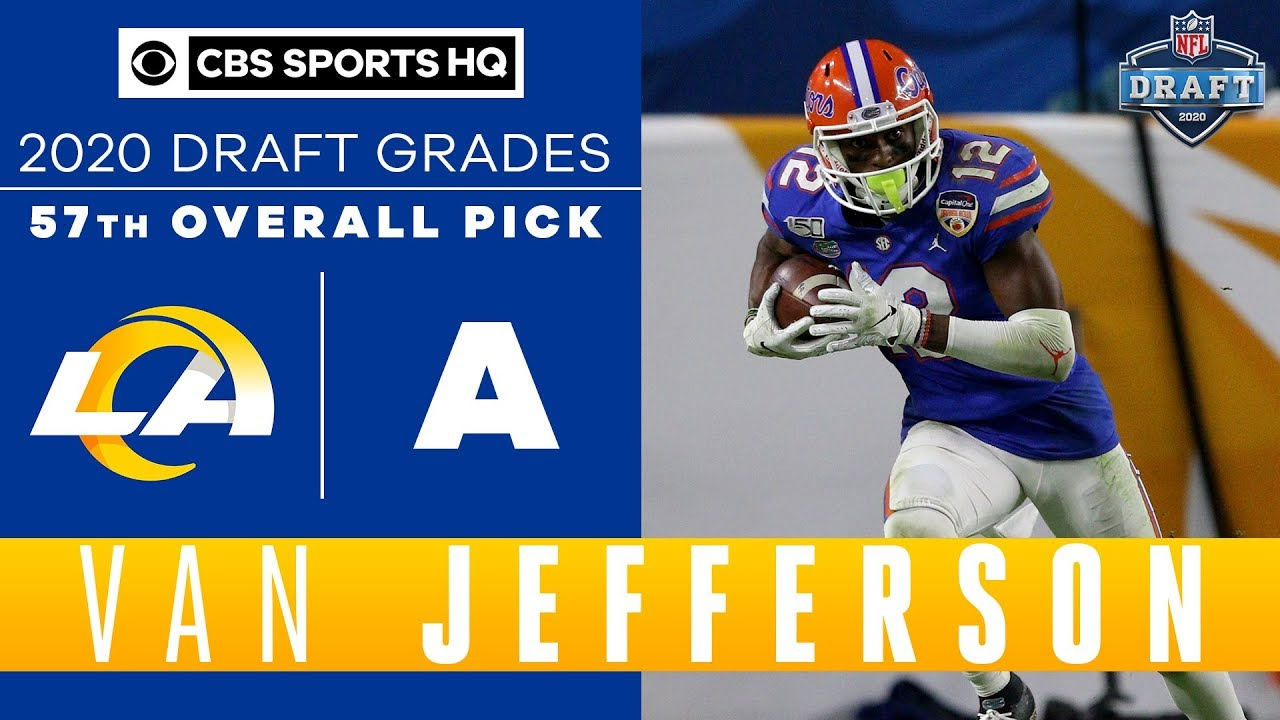 Los Angeles Rams Receive A Hard Working Player In Van Jefferson With The 57th Pick 2020 Nfl Draft Youtube