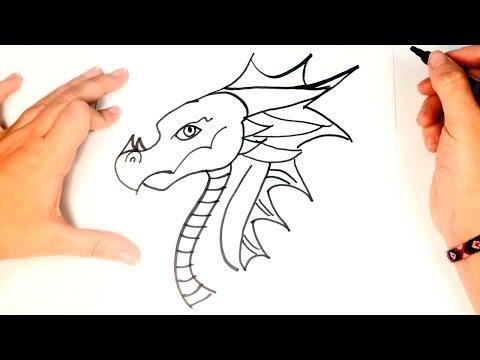 How to draw a Dragon  | Dragon Easy Draw Tutorial