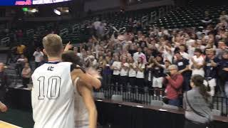 Hudsonville Unity Christian celebrates 1st state title with coach, fans