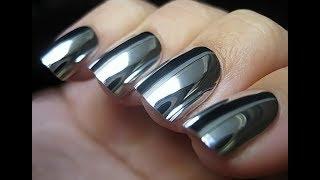 УРОК.ЗЕРКАЛЬНЫЙ МЕТАЛЛИЧЕСКИЙ маникюр.Хромовый пигмент.manicure GLOSS.Chrome pigment.MIRROR POWDER