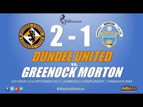 Match Highlights: Dundee United 2-1 Morton (Saturday 23 September 2017)