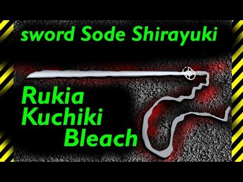 How to make a spiritual sword katana but Sode Shirayuki Rukia Kuchiki paper anime Bleach