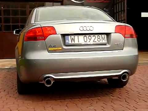 audi a4 b7 2 0tfsi magnaflow exhaust youtube. Black Bedroom Furniture Sets. Home Design Ideas