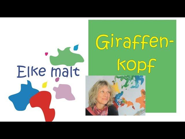 Elke malt - Giraffenkopf