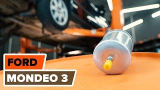Kuinka ja milloin vaihtaa Polttoainesuodatin bensiini ja diesel FORD MONDEO III Saloon (B4Y): opetusvideo