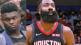Zion Williamson Watches James Harden & Russell Westbrook Destroy Pelicans! Rockets vs Pelicans