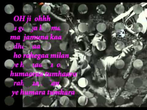 Tu ganga ki mauj main jamuna ( Baijoo bawra ) Free Karaoke with lyrics by Hawwa -