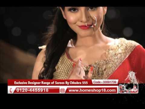 2c3d05b9acf Homeshop18.com - Exclusive Designer Range of Sarees By Chhabra 555 (Pick  Any 1)