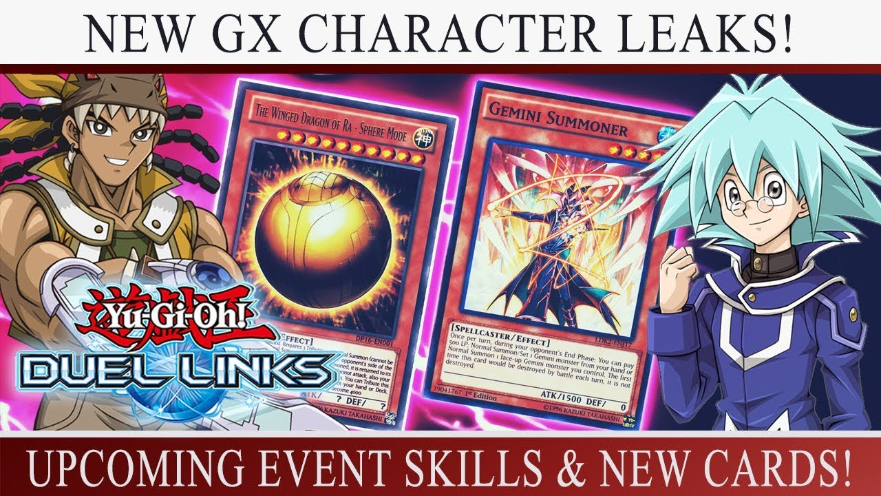 [Yu-Gi-Oh! Duel Links] HUGE LEAKS! More GX Characters Confirmed! NEW Event  Skills & Cards!