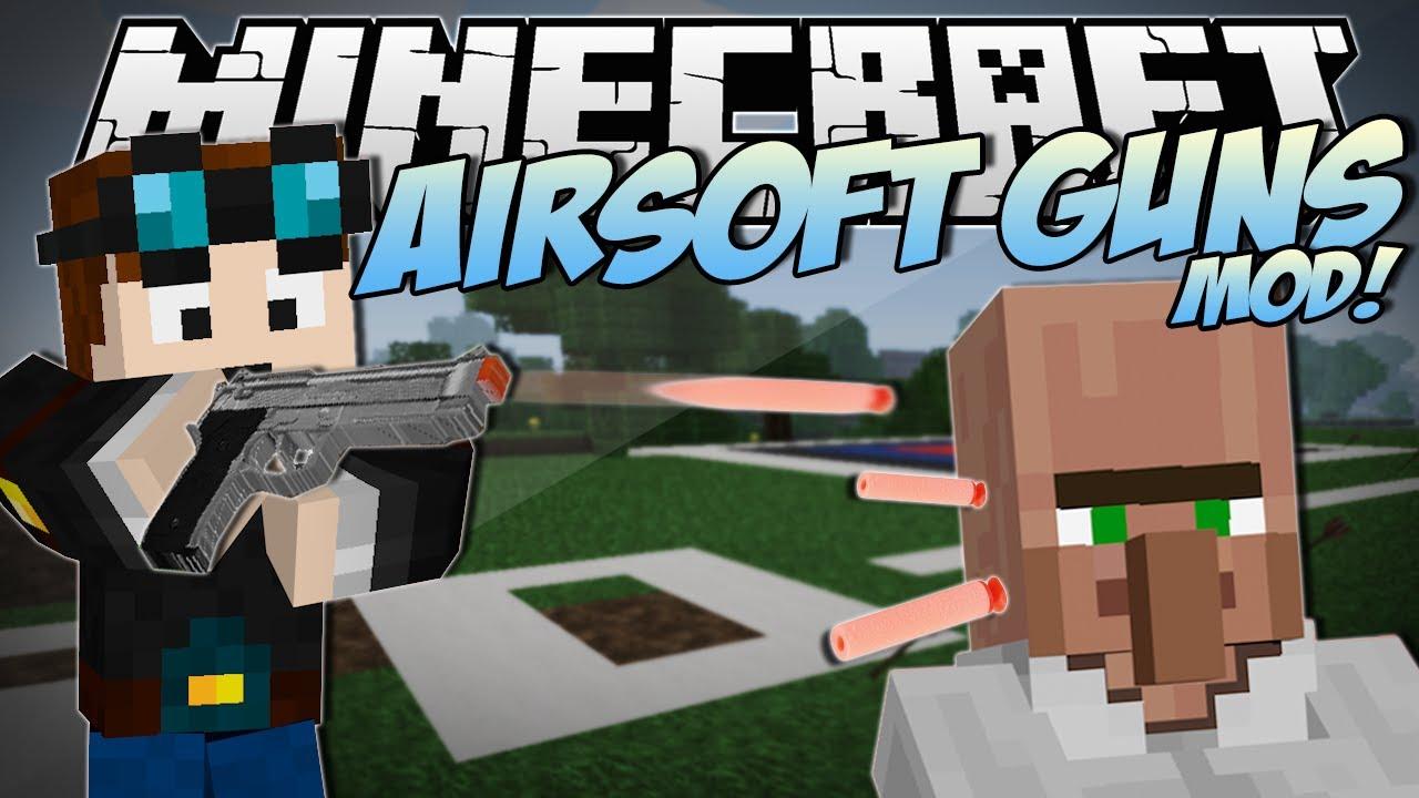Minecraft   AIRSOFT GUNS MOD! (Awesome New Guns & Weapons!)   Mod Showcase