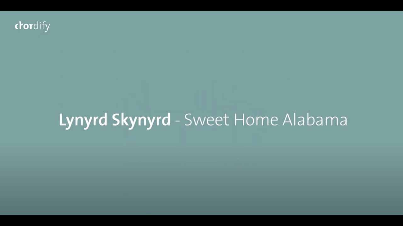 The lines about neil young for. Songs Explained Sweet Home Alabama By Lynyrd Skynyrd On Piano Blog Chordify Tune Into Chords
