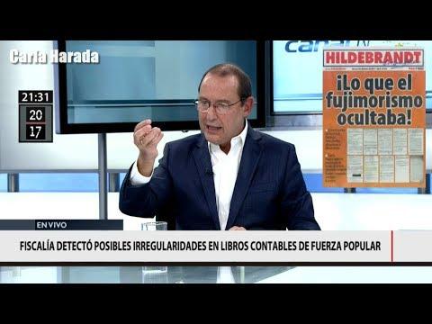 """José Chlimper, secretario general de Fuerza Popular, en la mira de """"Hildebrandt en sus trece"""""""