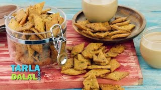 Namkeen Shakkarpara/ Shankarpali/ Salted Indian Teat Time Snack/ Diwali Recipe by Tarla Dalal