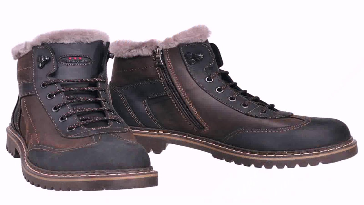 f65ea421a383 Мужские Зимние Ботинки На Меху - YouTube