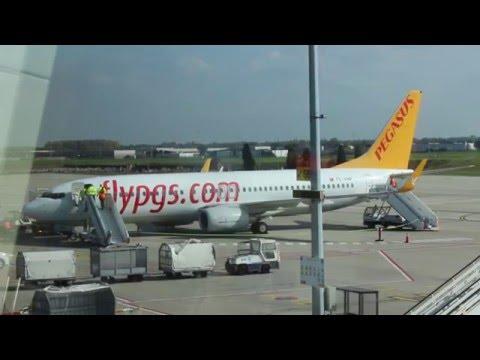 Pegasus airlines BOEING 737-800 NG Charleroi Brussels south airport to Istanbul Sabiha Goçcken