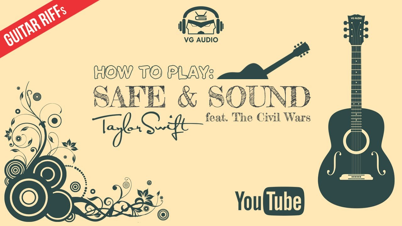 How To Play Taylor Swift Safe Sound Guitar Riff Youtube