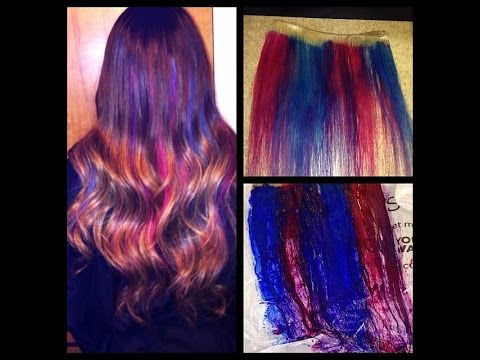 How To Pink Blue And Purple Streaks Youtube