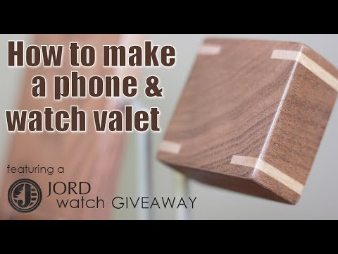 Woodworking: How To Make A Phone/watch Valet