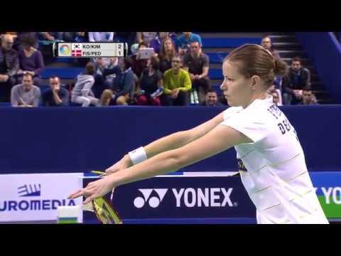 Yonex French Open 2016   Badminton SF M1-XD   Ko/Kim vs Fis/Ped