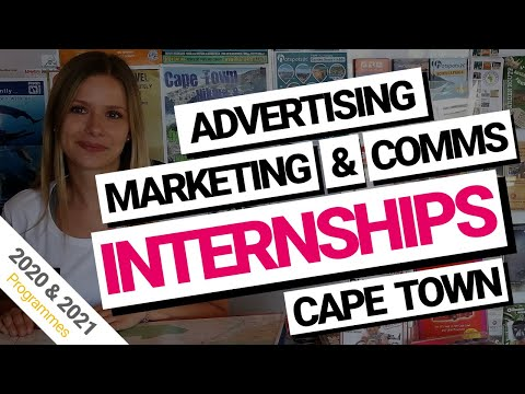Advertising, Communications and Marketing Internships Cape T