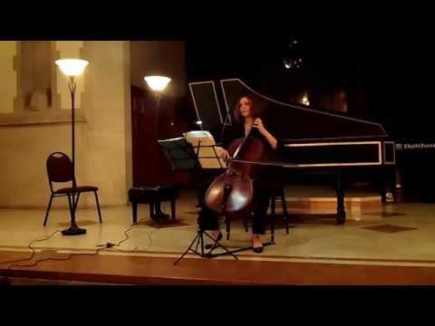 Bach Unaccompanied Cello Suite No. 2 in D minor, Courante and Sarabande