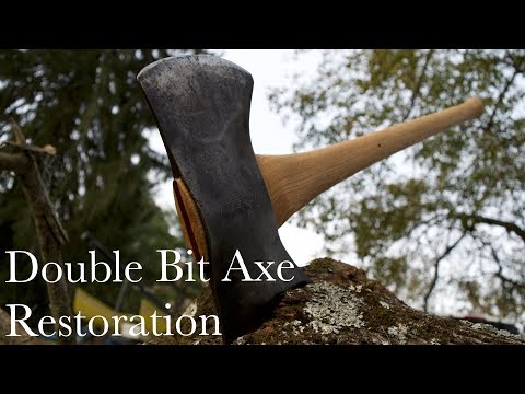 Double Bit Axe Restoration and Rehandle