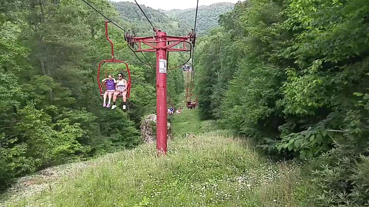 Sky Lift At Natural Bridge State Park In Slade Ky Youtube