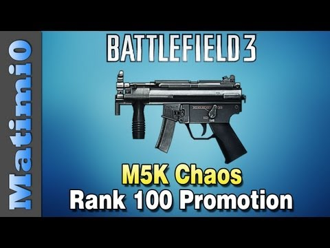 M5K Chaos - Rank 100 Promotion! Squad Up (Battlefield 3 Gameplay/Commentary)