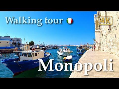 Monopoli (Puglia), Italy【Walking Tour】With Captions - 4K