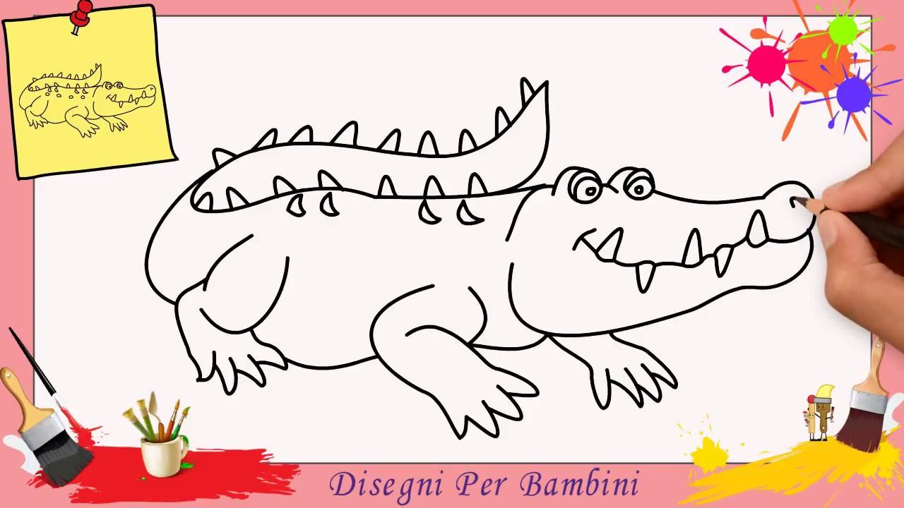 Disegni di coccodrilli facili per bambini come disegnare for Disegni di animali per bambini