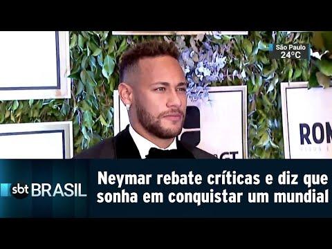 Neymar rebate críticas e diz que ainda sonha em conquistar um mundial | SBT Brasil (20/07/18)