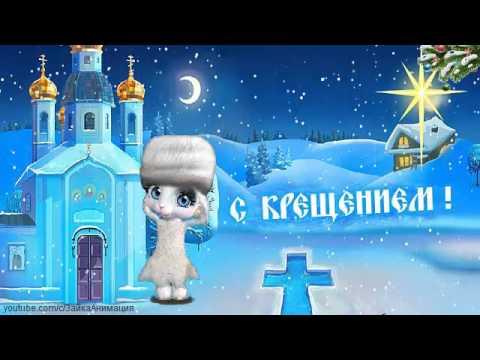 ZOOBE зайка Красивое Поздравление  с Праздником Крещение Господне - Видео приколы смотреть